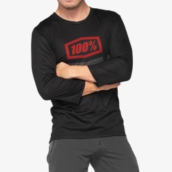 AIRMATIC 3/4 Sleeve Jersey Black/Red: Mărime - XL