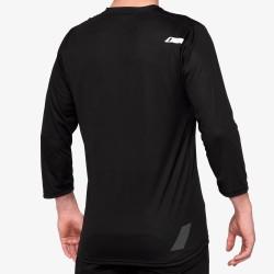 AIRMATIC 3/4 Sleeve Jersey Black: Mărime - LG