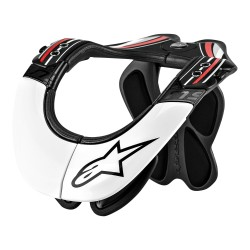 BNS PRO NECK SUPPORT BLACK/RED/WHITE: Mărime - L/XL