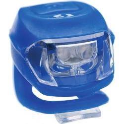 Lampă BIKEFUN PIXIE față 2 alb LED 2 funcții, silicon, albastru - JY-267F-2B-BLUE