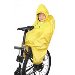 Pelerina ploaie Force pentru copii in scaun bicicleta galbena