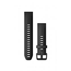 Curea Garmin Quickfit 20 silicon black fenix 5S, 6S, Culoare: Black