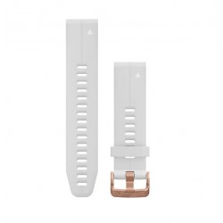 Curea Garmin Quickfit 20 silicon carrara white, rose gold Fenix 5S/6S, Culoare: White