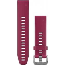 Curea Garmin Quickfit 20 silicon cerise fenix 5S, 6S, Culoare: Red