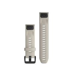 Curea Garmin Quickfit 20 silicon Light Sand fenix 5S, 6S, Culoare: Light Sand