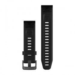 Curea Garmin Quickfit 20 silicon negru fenix 5S/6S, Culoare: Black