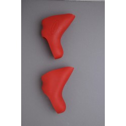 HÜDZ brake / shift lever grip rubbers red for Campagnolo Ergo V2 medium / soft - Campagnolo g2