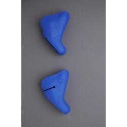 HÜDZ brake / shift lever grip rubbers blue, for Campagnolo Ergo V2 medium - Campagnolo g2
