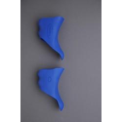 HÜDZ brake / shift lever grip rubbers blue, for Shimano Dura Ace 7800 Medium / Soft