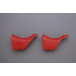HÜDZ brake / shift lever grip rubbers red for Shimano Dura Ace 7800 Medium / Soft