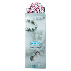 Lanţ KMC Z510H alb/pink