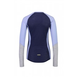 Bluze termice Mons Royale Bella Tech LS Navy / Blue Fog / Grey Marl S