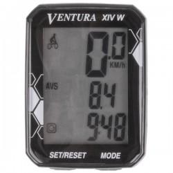 "Bike Computer VENTURA ""XIV W "" 14 Functii  Wireless"